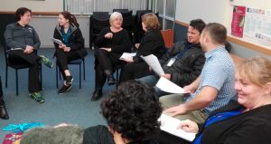 Participants engaged in paired discussion.